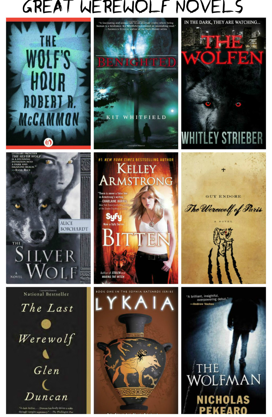 10 Great Werewolf Novels